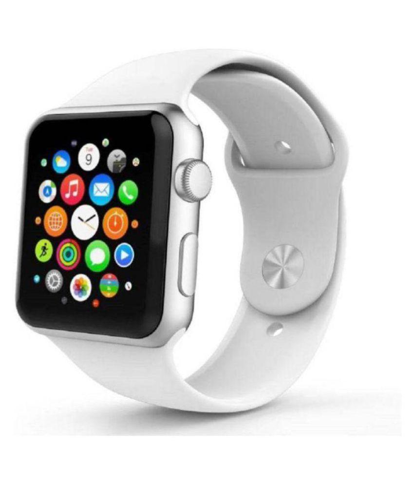 Gazzet Oppo,Vivo,Mi 4G Calling A1 Wrist Watch White Strap Wearable Smart Devices