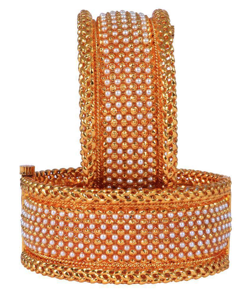 Aangi wedding moti  copper two pice baliya bangles