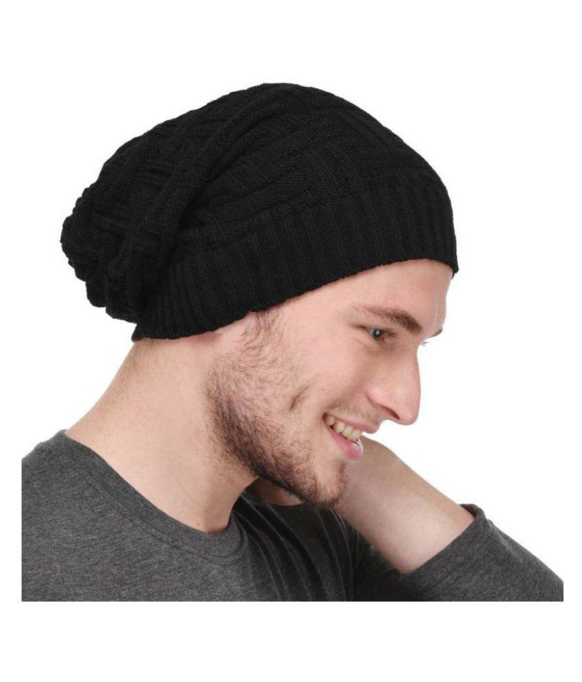FAS Black Checkered ( Woollen   Winter Cap ) - Buy Online   Rs ... 2b0388bb292