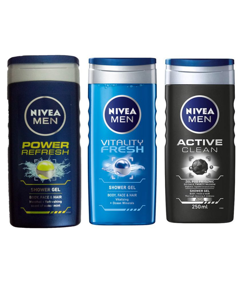 Nivea ACTIVE CLEAN SHOWER GEL VITALITY FRESH SHOWER GEL+POWER REFRESH SHOWER  GEL Shower Gel 450 Ml
