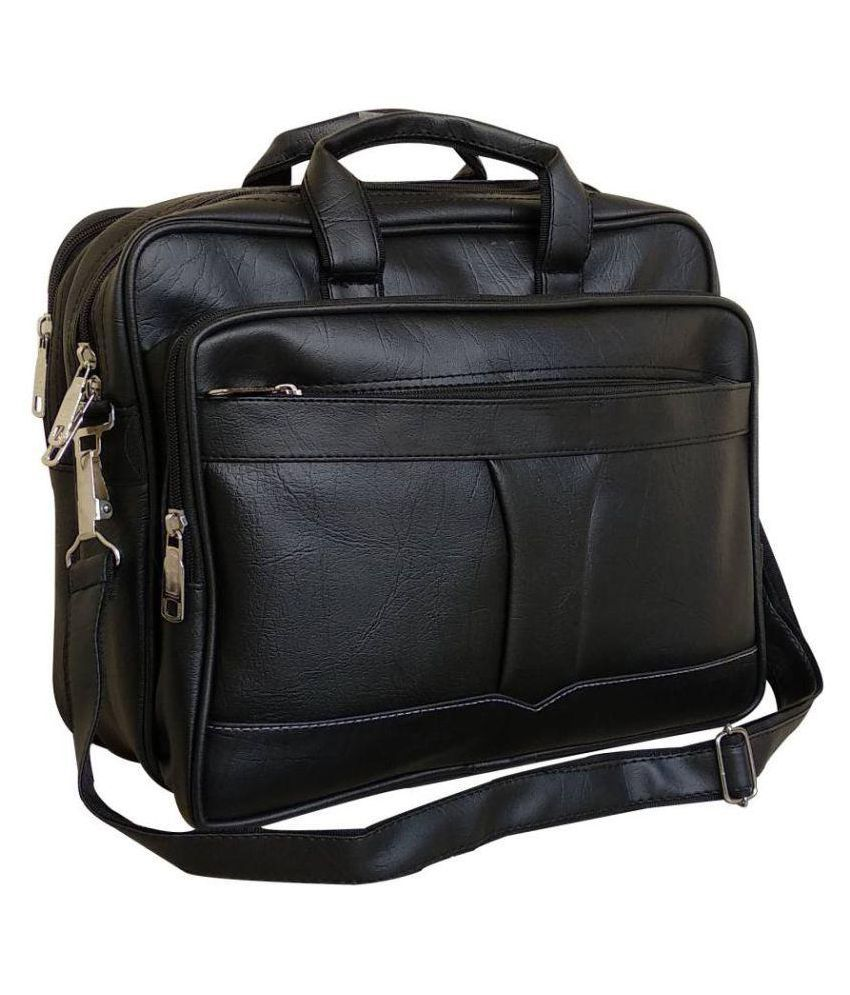 PhD Black P.U. Office Messenger Bag