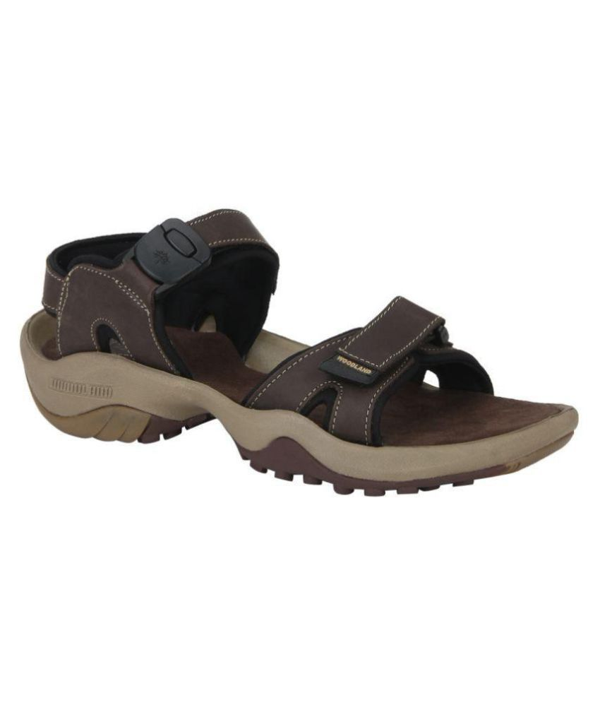 e93595e5460 Woodland GD 2053116 Brown Leather Sandals Price in India- Buy Woodland GD  2053116 Brown Leather Sandals Online at Snapdeal