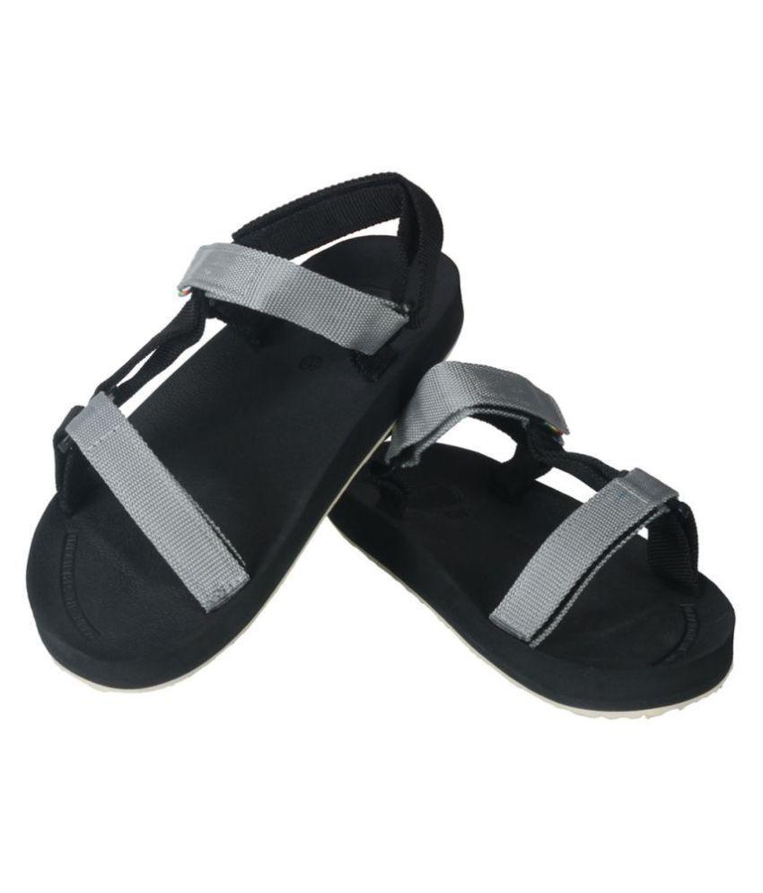 2e18760838252 Kito Black Mesh Textile Sandals Price in India- Buy Kito Black Mesh ...