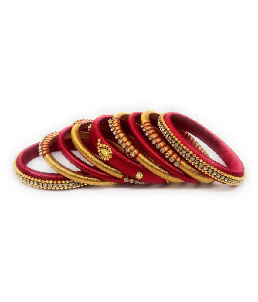 Silk thread mew bangles for women & girls
