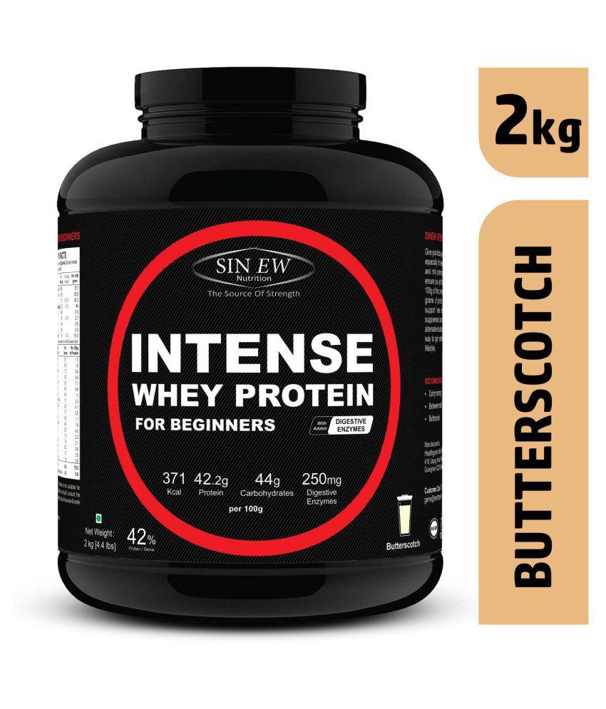 Sinew Nutrition Intense Whey Protein for Beginner's -Butterscotch, 2 kg