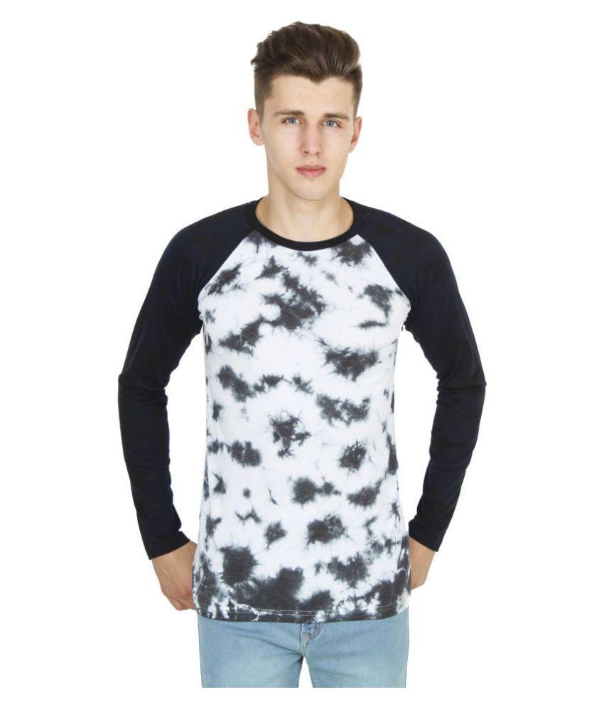Five-Stones White Full Sleeve T-Shirt