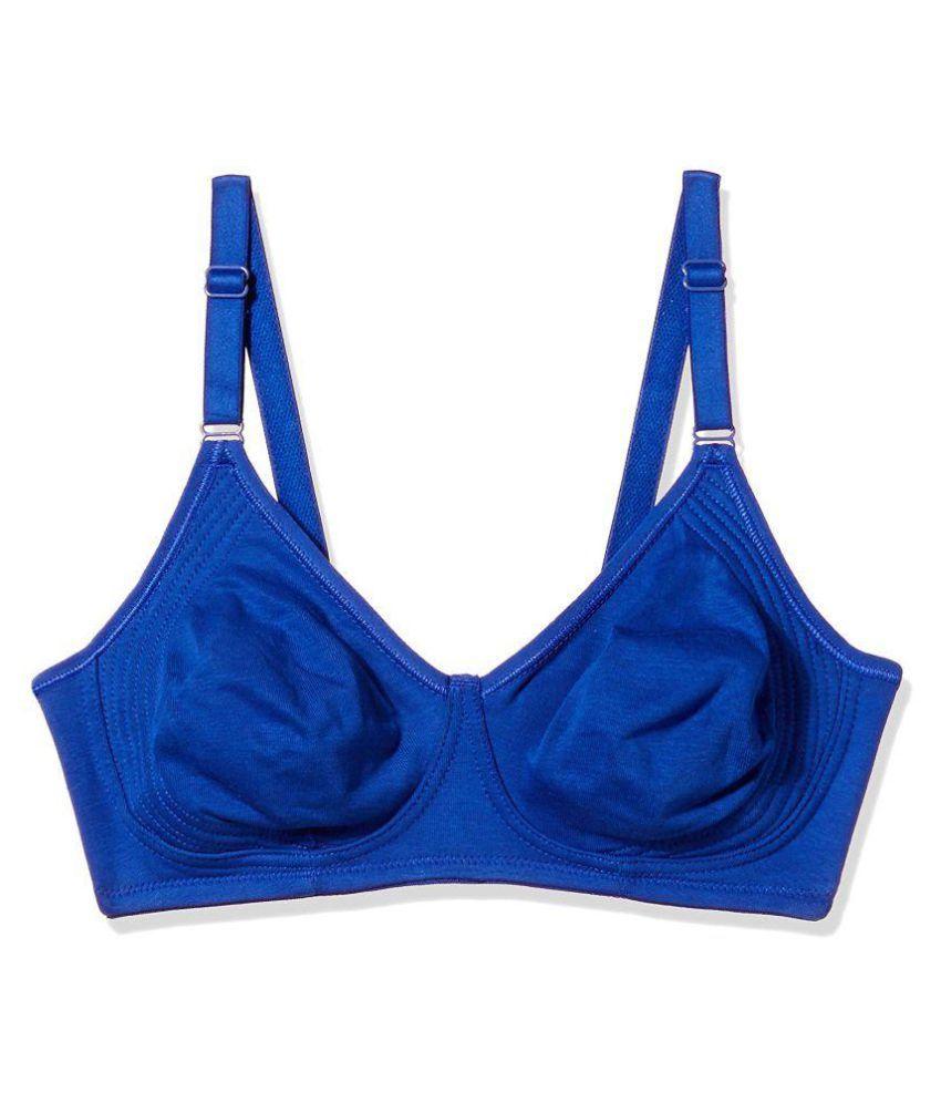 Laavian Cotton Lycra T-Shirt Bra - Blue