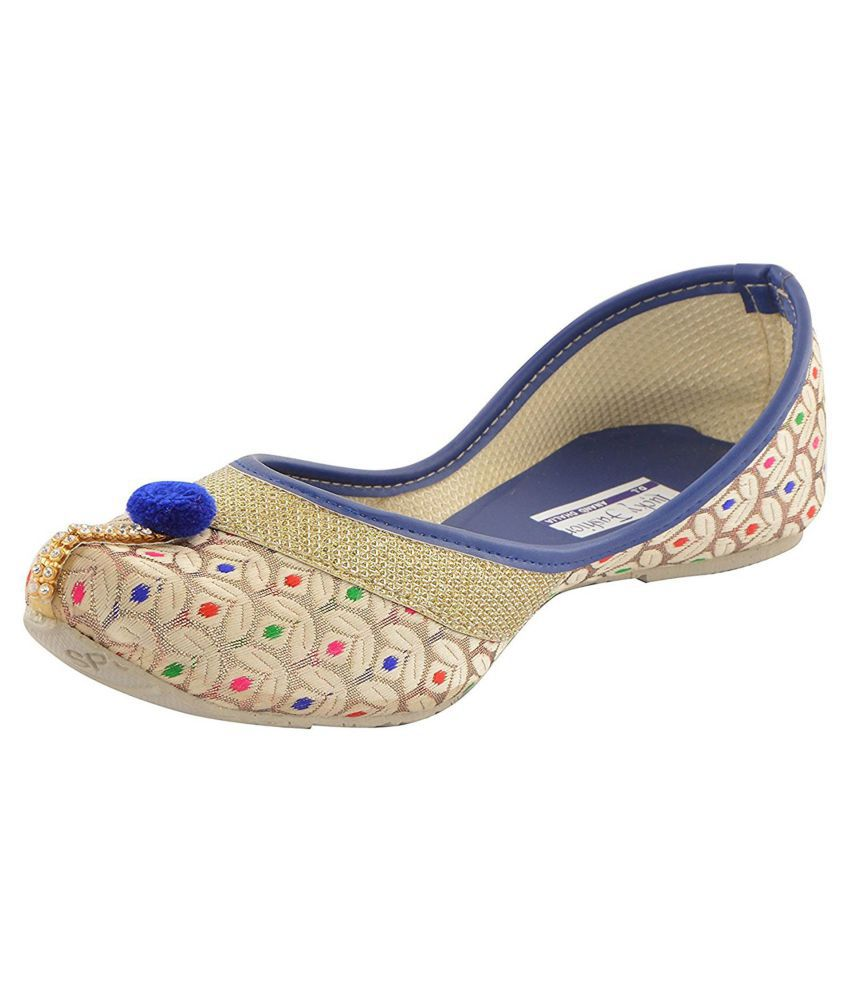 Shoe Lab Beige Ethnic Footwear