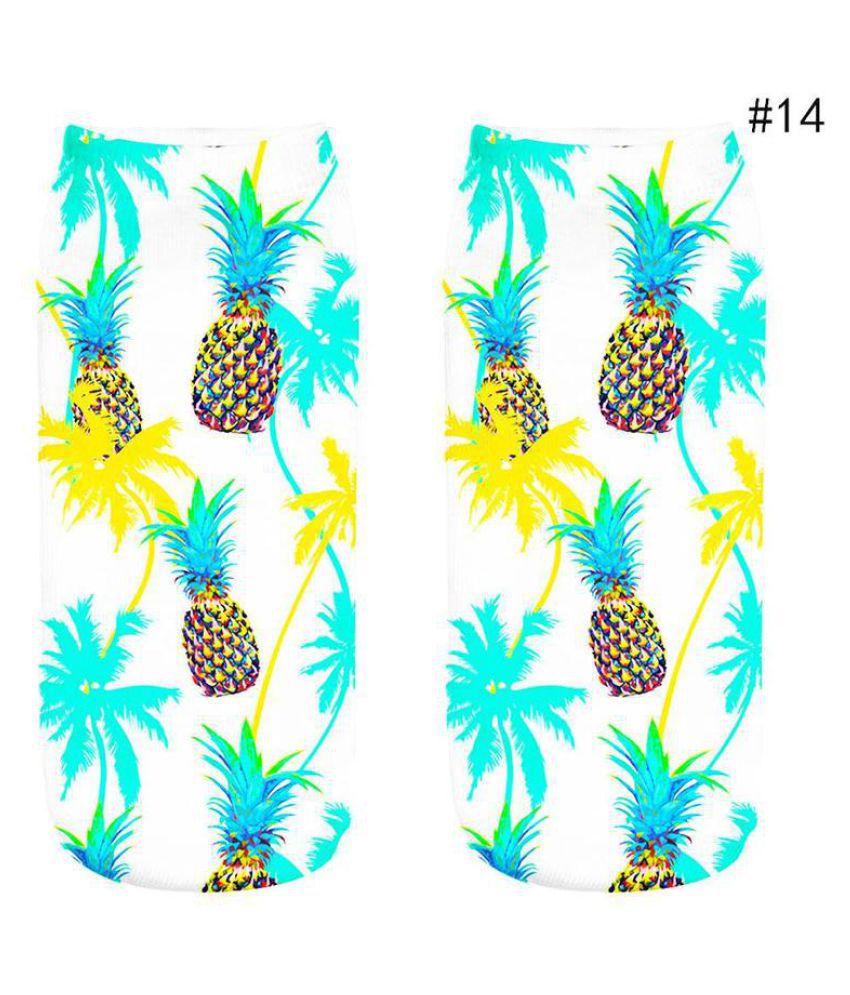 1 Pair Fashion Fruit Socks Cotton 3D Printed Fruit Low Cut Ankle Socks