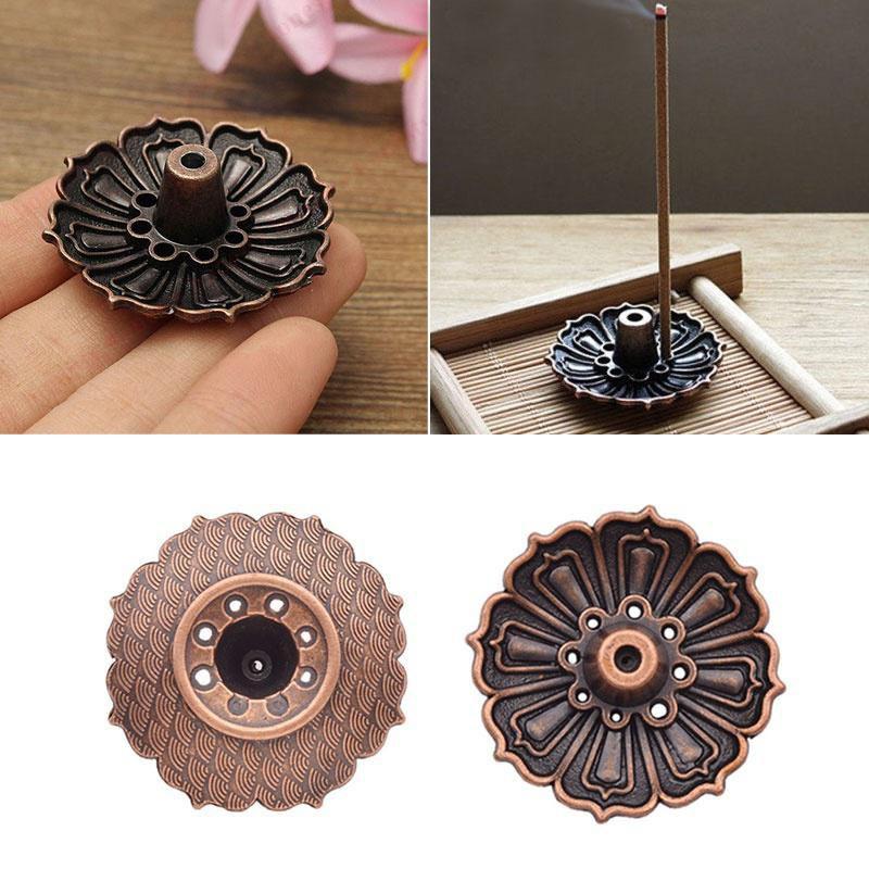 9 Holes Lotus Flower Incense Burner Holder Plate for Stick Cone Incense ...