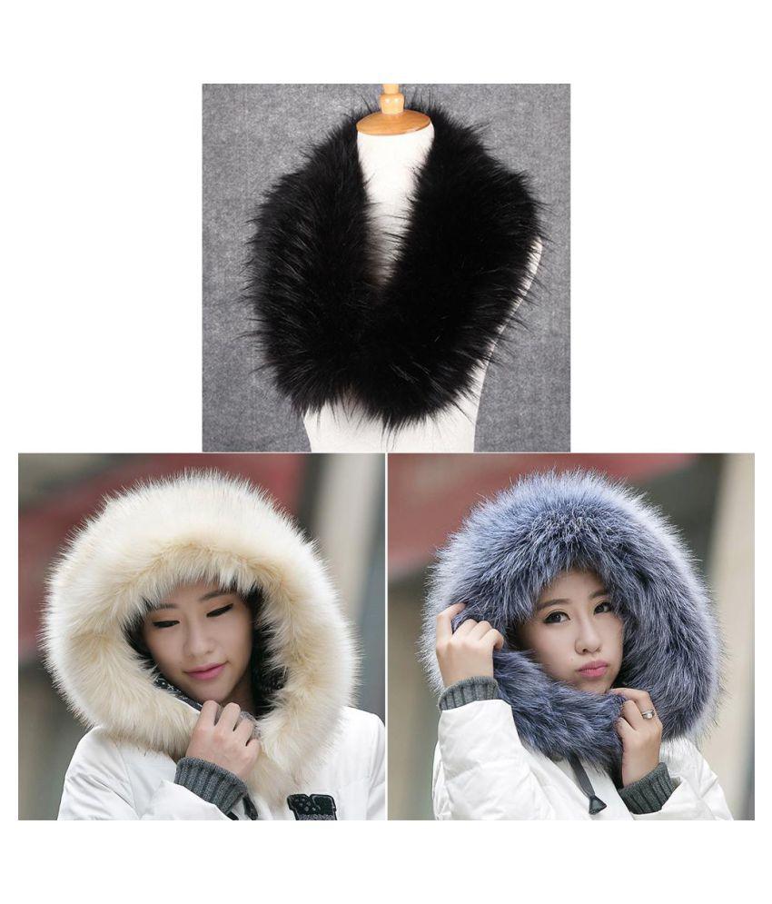 a2c3eef6f1 ... Elegant Women Ladies Faux Fur Collar Scarf Warm Warmer Shawl Wrap Stole