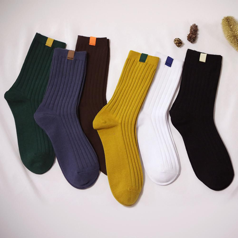 Men's Autumn Winter Casual Cotton Warm Solid Sport Socks