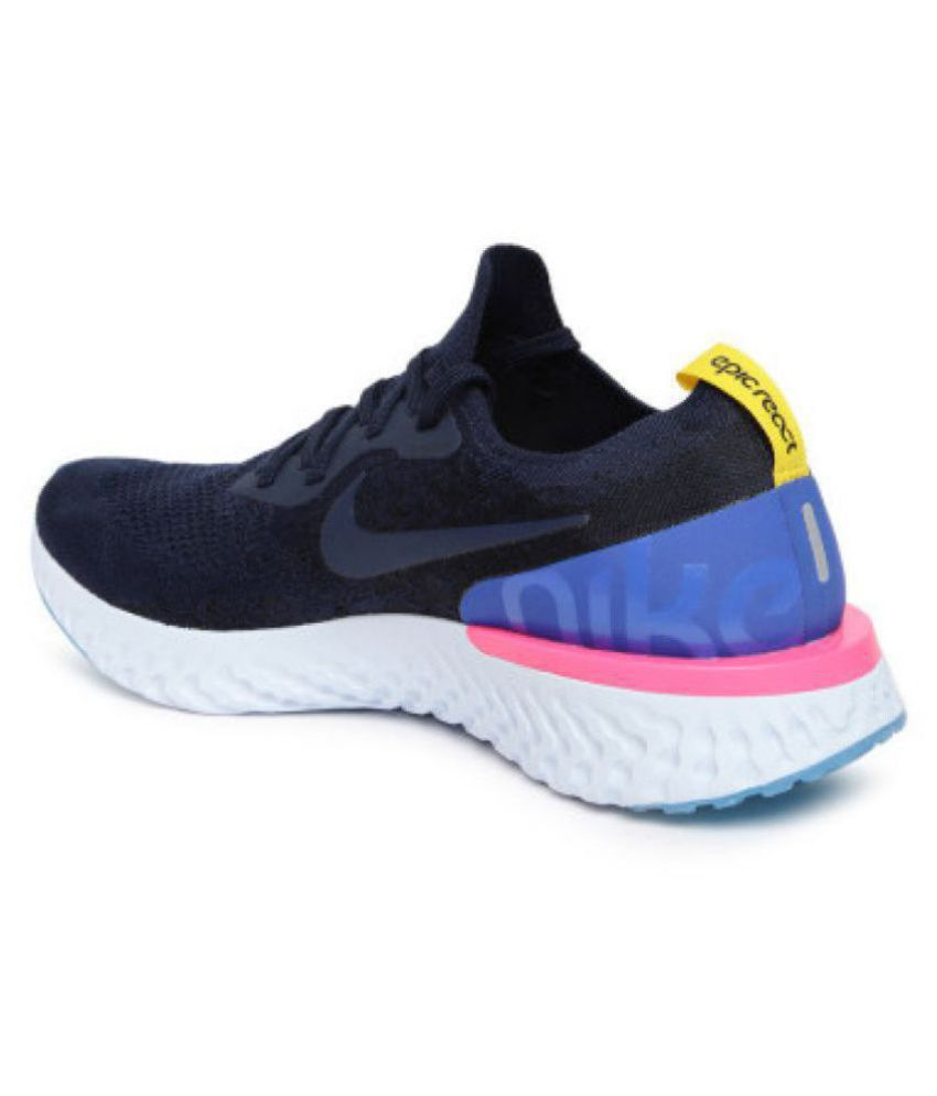 purchase cheap 33b82 6230c Nike epic react flyknit Blue Running Shoes