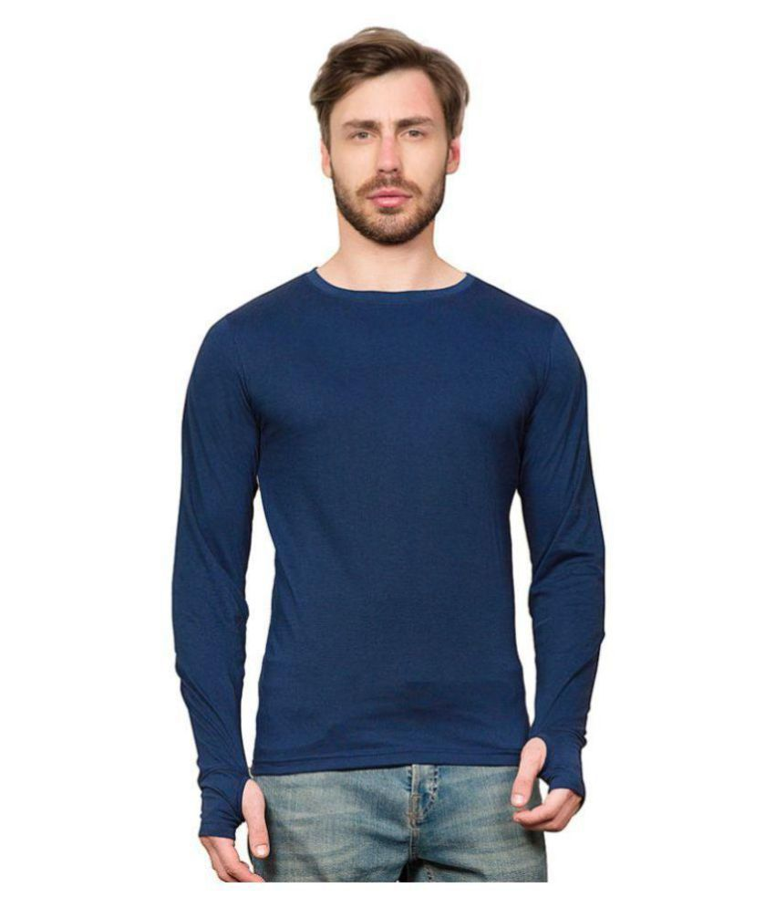 PAUSE Blue Full Sleeve Thumbhole T-Shirt
