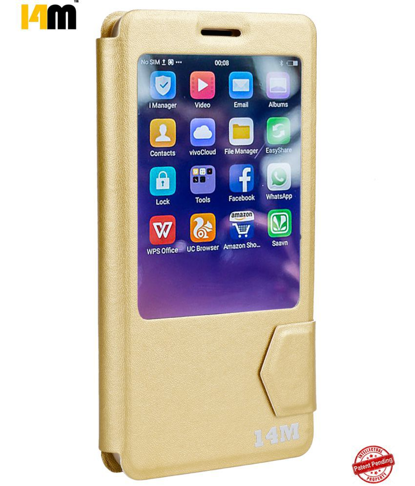 Samsung Galaxy S9 Plus Flip Cover by 14M - Golden