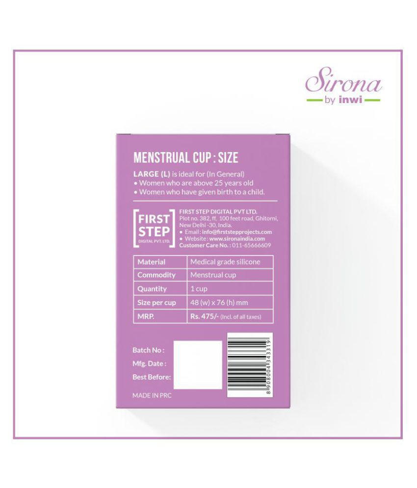 2c3e5d9a15f Sirona 2 Reusable Menstrual Cup Large Pack of 2  Buy Sirona 2 ...