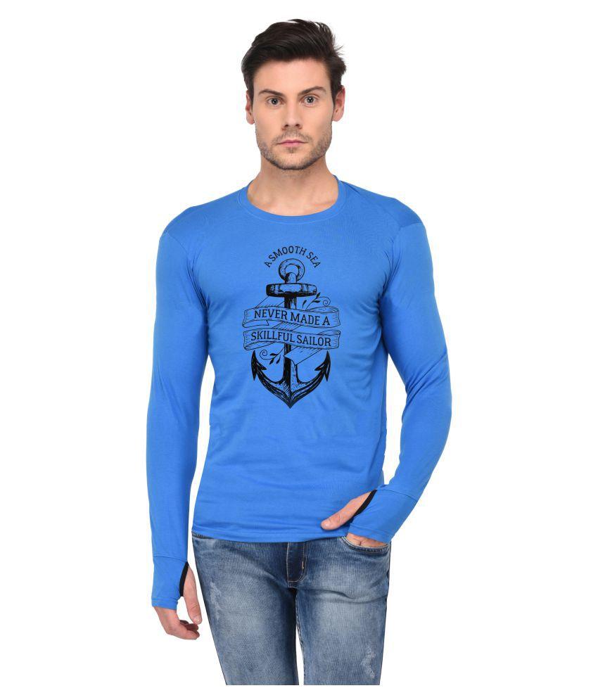 Trends Tower Blue Full Sleeve T-Shirt