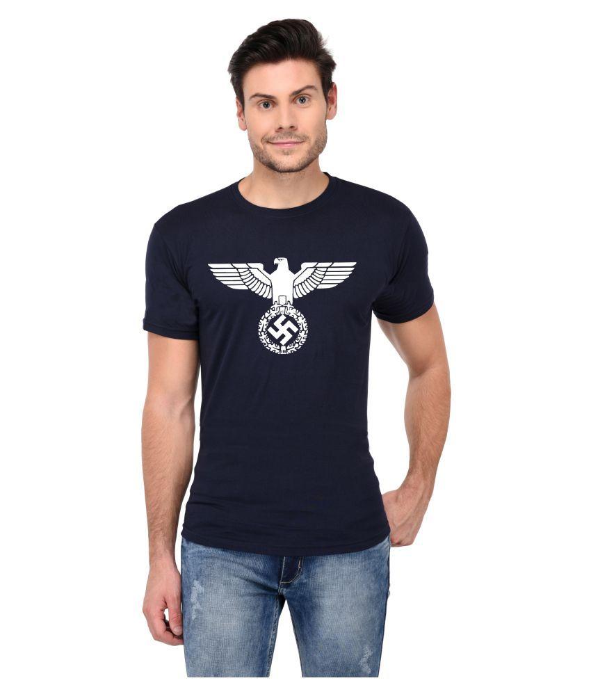 Trends Tower Navy Half Sleeve T-Shirt