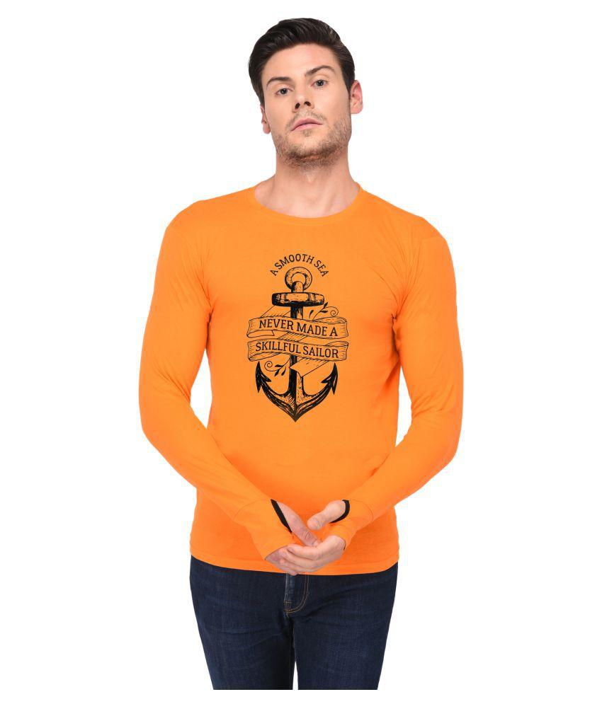 Trends Tower Orange Full Sleeve T-Shirt