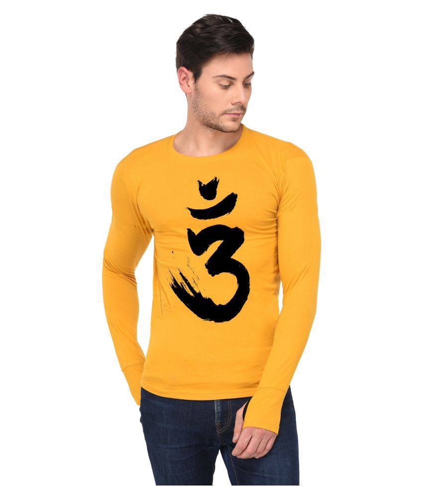 Trends Tower Yellow Full Sleeve T-Shirt