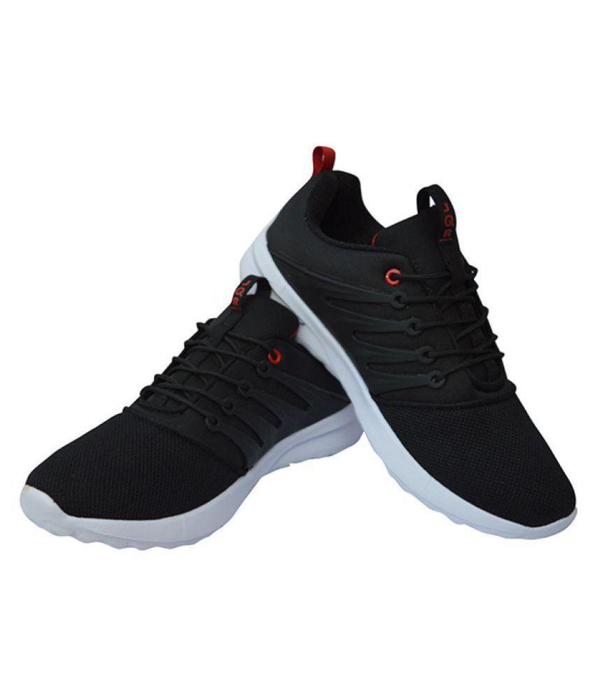 JQR SPORTS Black Running Shoes - Buy
