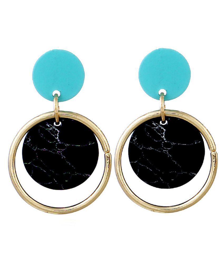 Levaso Fashion Jewelry Womens Earrings Ear Studs Alloy 1Pair Personality Gifts Blue