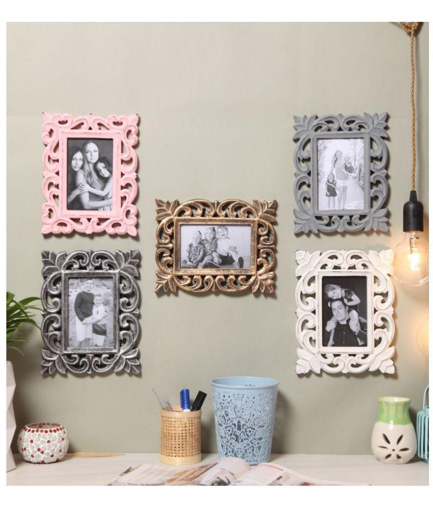 Yatha Wood Multicolour Collage Photo Frame - Pack of 1