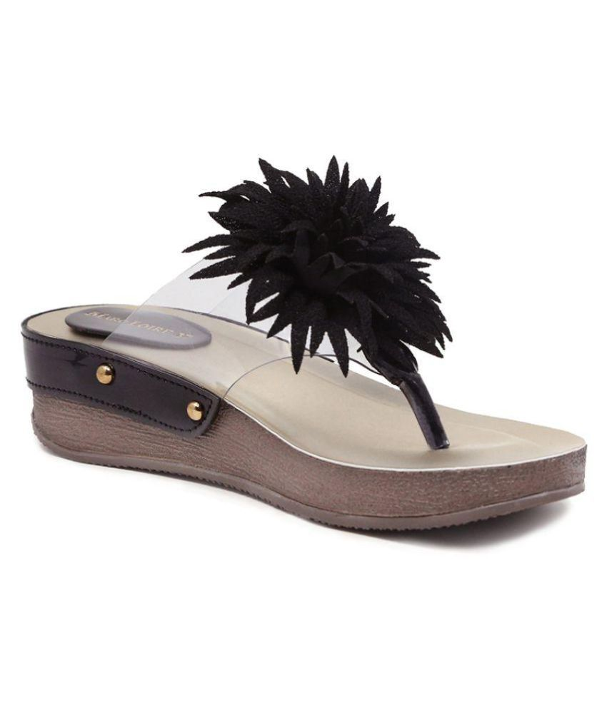 MARC LOIRE Black Platforms Heels