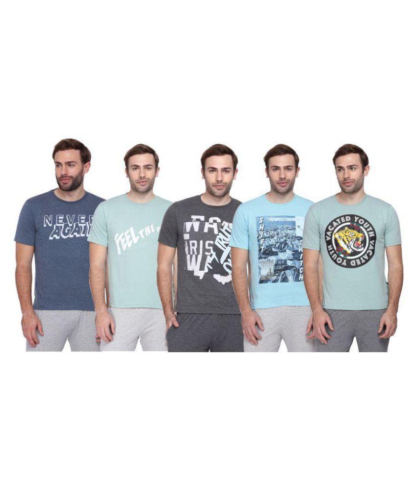Sharktribe Multi Half Sleeve T-Shirt Pack of 5