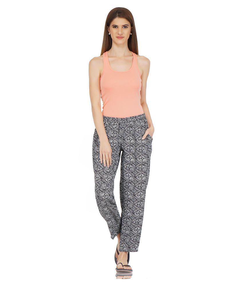 Smerize Viscose Pajamas - Grey