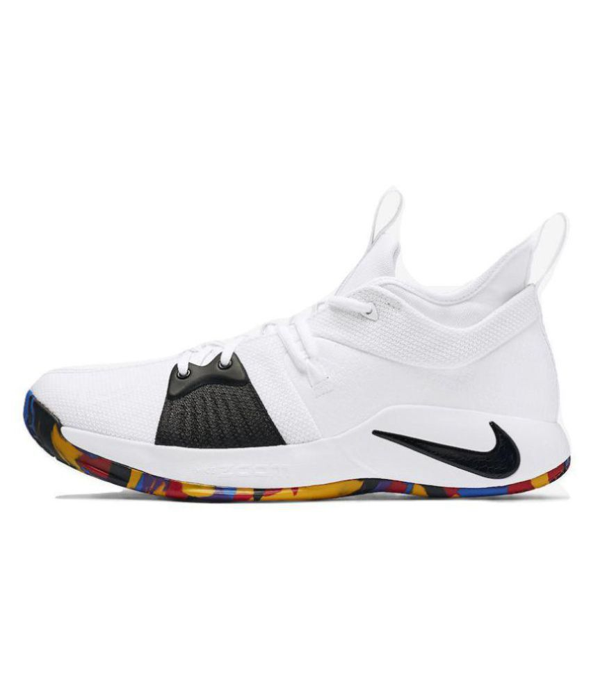 finest selection 4e60e 905dc Nike PG 2 PAUL GEORGE White Basketball Shoes