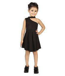 7353916e353c1 Quick View. Addyvero Girls One Shoulder Black Party Western Dress