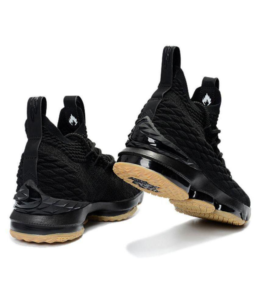 on sale f4d88 298fb ... Nike LEBRON 15 EP Black Basketball Shoes ...