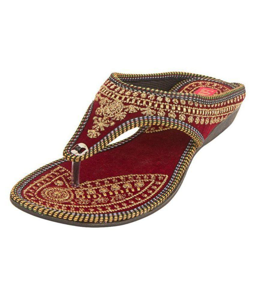 RAJSAHI Red Ethnic Footwear