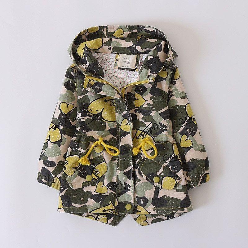 Changing Destiny Girl hooded trench coat woolen coat-Yellow-1Pcs