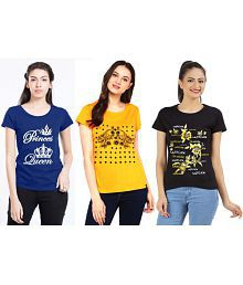 b9586b0481 Women s Tees   Polos  Buy T-shirts for Women Online at Best Prices ...
