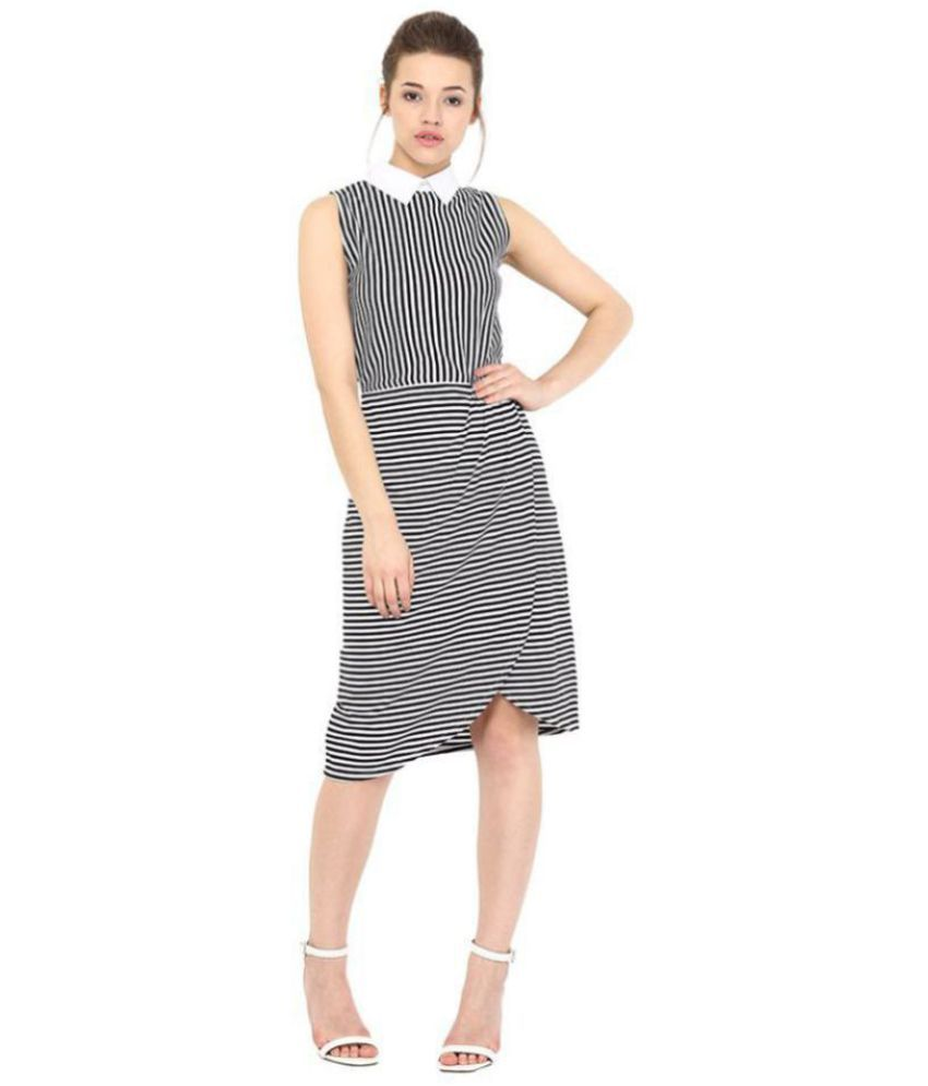 Miss Chase Cotton Multi Color Regular Dress