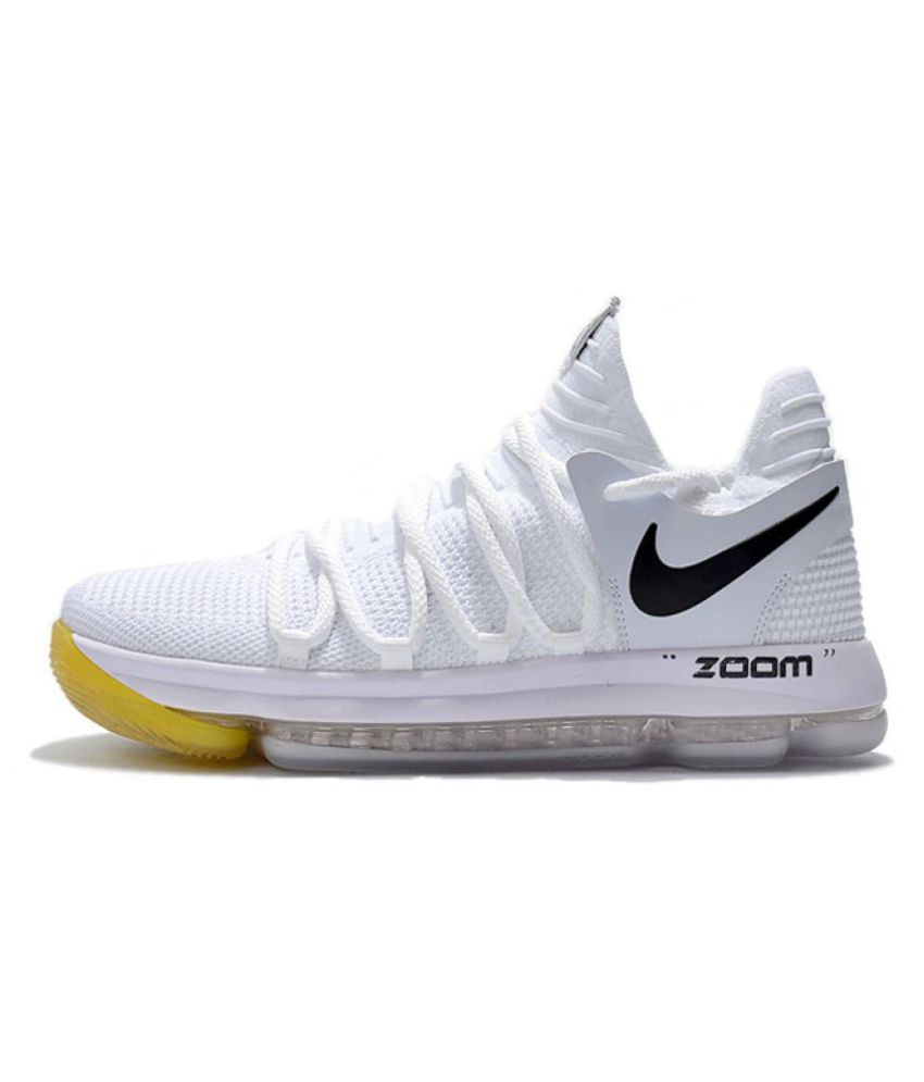 best loved e525a 26908 Nike Air Max X KD 10 White Basketball Shoes
