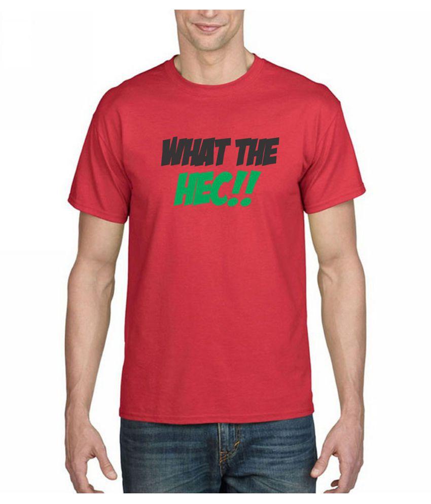 Inkwasi Red Half Sleeve T-Shirt Pack of 1