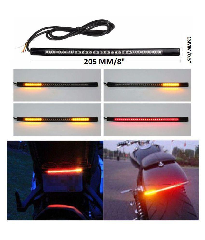 star shine universal flexible led strip brake light with turn signal rh snapdeal com