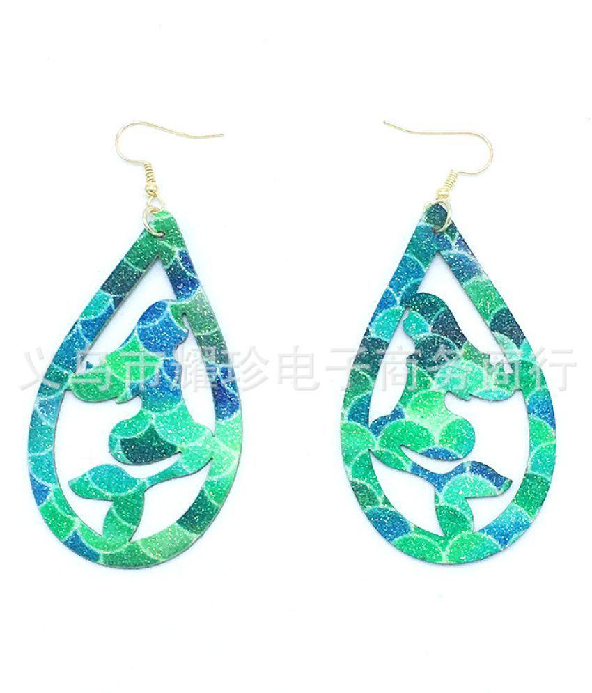 Levaso Fashion Earrings Ear Studs Leather Jewelry Multi Color