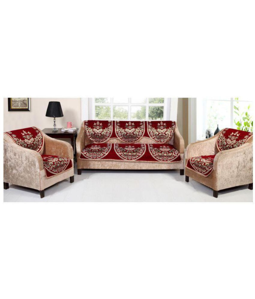 Stupendous Styletex 5 Seater Cotton Set Of 6 Sofa Cover Set Spiritservingveterans Wood Chair Design Ideas Spiritservingveteransorg