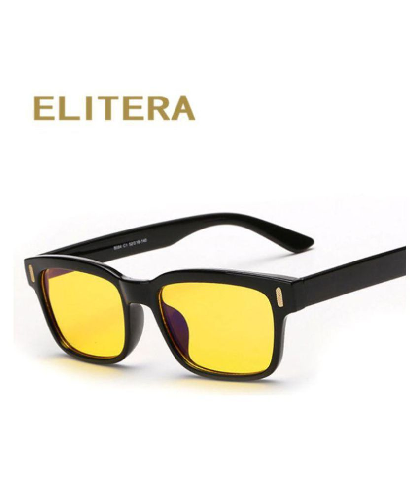 Elitera Yellow Wayfarer Sunglasses ( EL-UV100 )