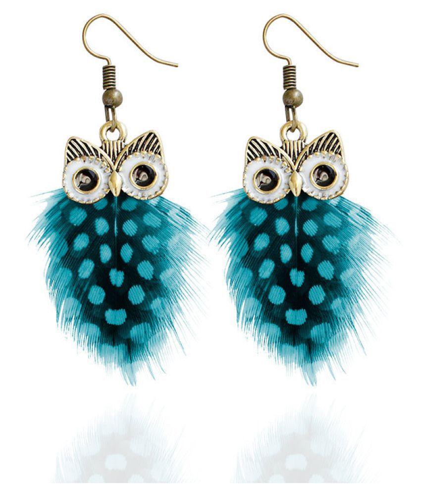 Levaso Fashion Earrings Ear Studs Alloy Jewelry Blue