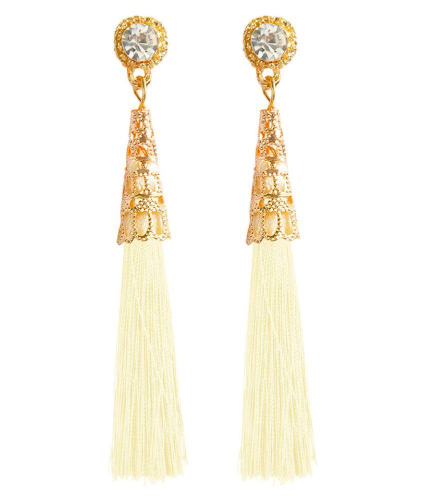 Levaso Fashion Earrings Ear Studs Alloy Bohemia National Diamond Tassels Jewelry Black
