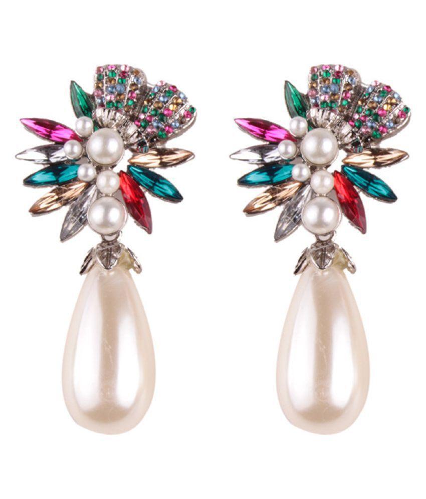 Levaso Fashion Earrings Ear Studs Alloy Diamond Jewelry Multi Color