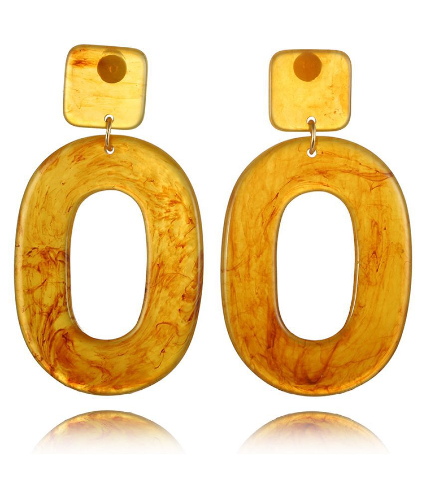Levaso Fashion Earrings Ear Studs Acrylic Jewelry Yellow