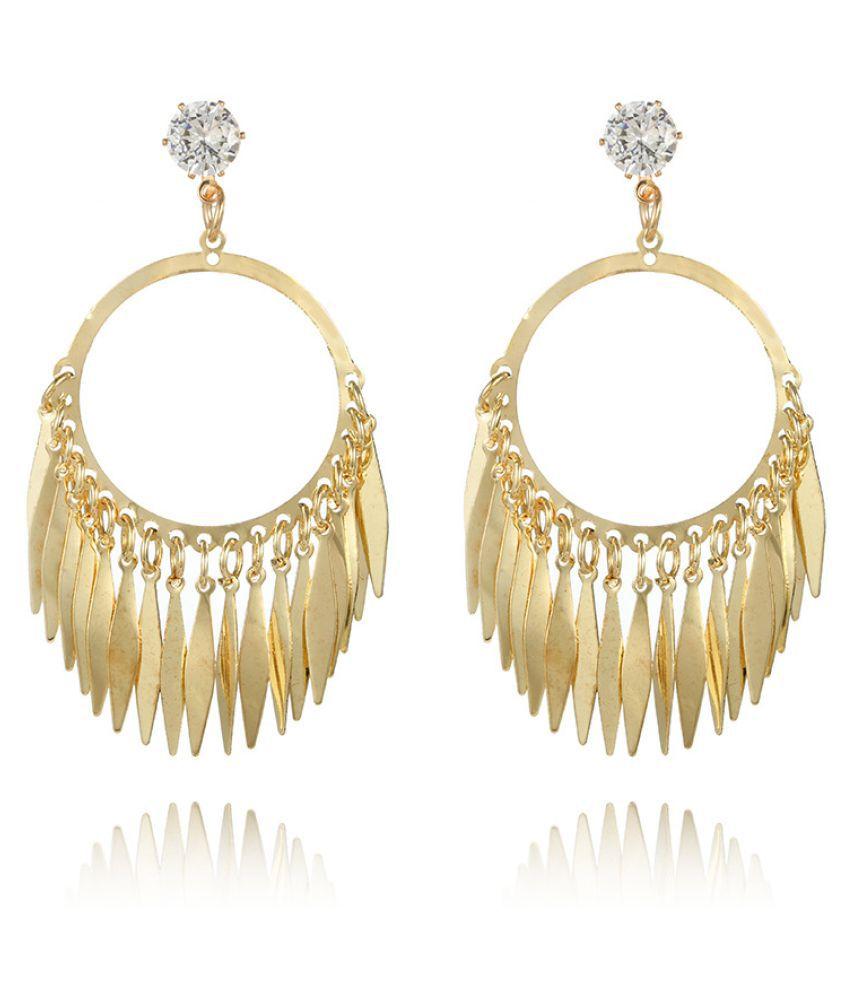 Levaso Fashion Earrings Ear Studs Alloy Diamond Tassels Jewelry Multi Color