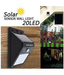 Gi-Shop 10W Solar Outdoor Wall Light , solar panel light - Pack of 1