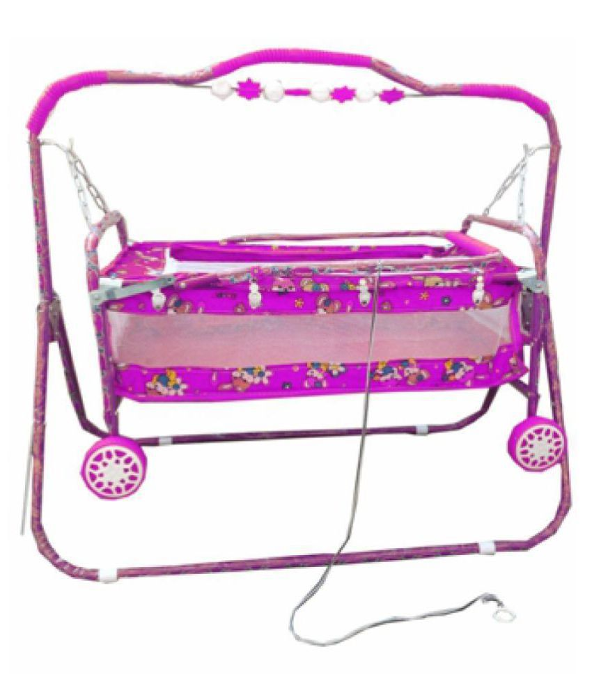 Oh Baby Baby Pink Bassinets And Cradles(Jhulla Baggi And Palna Baggi) With Mosquito Net For Your Kids SE-JP-27